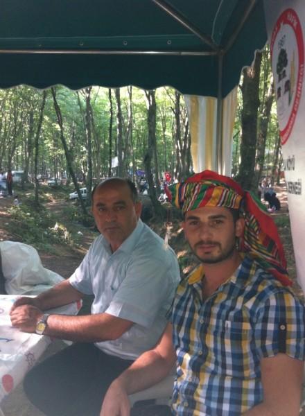 2013 Yılı Köy Ağamız Yusuf Ecevit ve Derneğimizin başkanı Metin Ercan